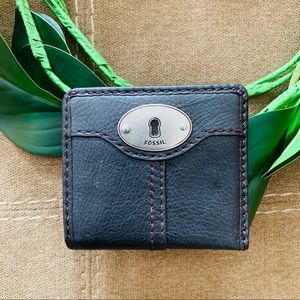 Fossil Vintage Small Black Wallet